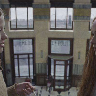 Mia Goth as Sara and Dakota Johnson as Susie star in Suspiria