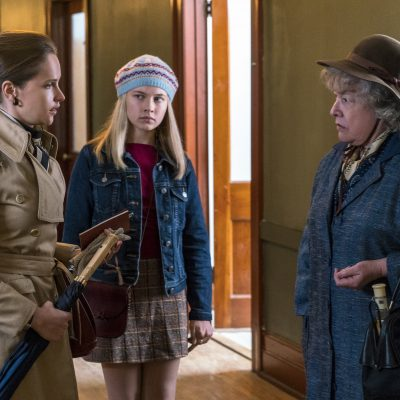 (l to r.) Felicity Jones as Ruth Bader Ginsburg, Cailee Spaeny as Jane Ginsburg, and Kathy Bates as Dorothy Kenyon star in Mimi Leder's ON THE BASIS OF SEX, a Focus Features release.