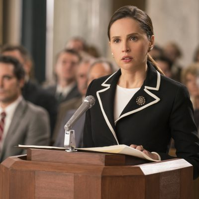 Felicity Jones stars as Ruth Bader Ginsburg in ON THE BASIS